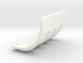 NIX63111 Motor mount brace for RC10 Graphite in White Processed Versatile Plastic