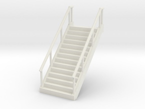 Stairs (45mm wide) 1/48 in White Natural Versatile Plastic