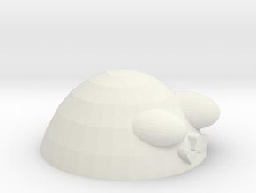 Egg shape dog storage box-Upper body in White Natural Versatile Plastic: Small