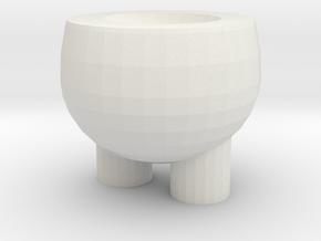 Egg shape dog storage box-Lower body in White Natural Versatile Plastic: Small