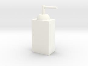 客製化瓶子 ( 球形 ) in White Processed Versatile Plastic: Extra Small