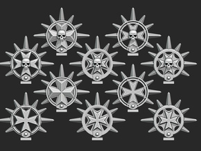 Maltese Cross Spiked Halos in Smooth Fine Detail Plastic