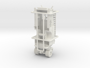 "1/64 Crown Engine ""Wide Body"" Body/Pump in White Natural Versatile Plastic"