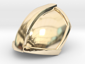 Mandalorian Pauldron   CCBS Scale in 14K Yellow Gold