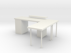 Gaming table in White Natural Versatile Plastic