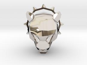 Spiked Cheetah Pendant in Platinum
