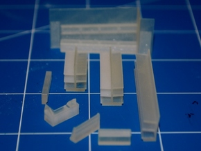 N-Scale DPM Corner Turret Building - Pharmacy in Smooth Fine Detail Plastic