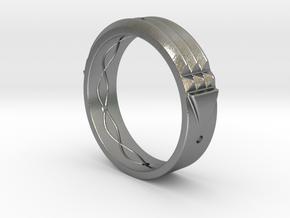 Atlantis Ring 15 in Natural Silver