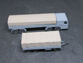 1/144 Faun L1500 D987 with 3 Axis trailer in White Natural Versatile Plastic