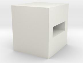 eraser B (2) in White Natural Versatile Plastic: Small