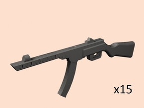 1/24 PPSh-41 with mgazine in Smoothest Fine Detail Plastic