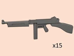 1/24 Thompson M1  in Smooth Fine Detail Plastic
