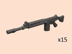 1/24 FN FAL rifles in Smooth Fine Detail Plastic