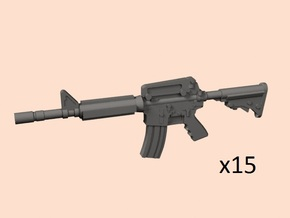 1/24 scale M4A1 assault rifles in Smooth Fine Detail Plastic