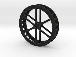 00-4mm Scale Iron Water Wheel in White Natural Versatile Plastic