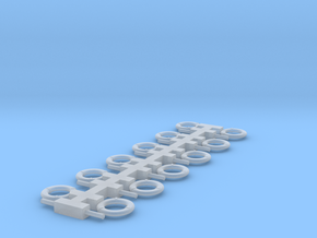 1/192 Life Rings, 24-inch with Rope Canisters in Smooth Fine Detail Plastic