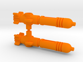 Air Wave Missile (5mm, Earthrise) in Orange Processed Versatile Plastic: Medium