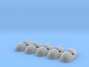 Gauntlets Of Metal V6 Corvus Smooth Shoulder Pads in Smooth Fine Detail Plastic