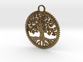 Tree Pendant in Natural Bronze