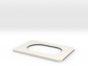 Webcam Cover Part 1 in White Natural Versatile Plastic