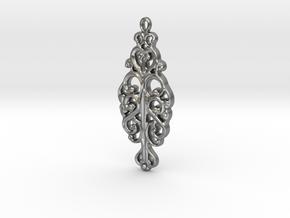 Ornamental Pendant in Natural Silver