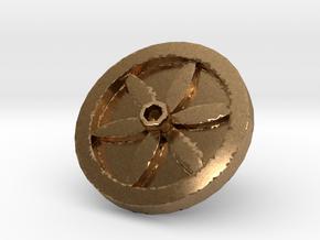 Jonqui ring 2 in Natural Brass