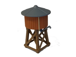Water Tank - HO Scale in White Natural Versatile Plastic: 1:87 - HO