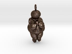 The Venus of Willendorf Pendant in Polished Bronze Steel