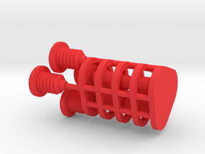 Z1 buttons and screws in Red Processed Versatile Plastic