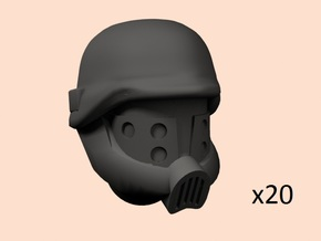 28mm SciFi Cult Brothers heads in Smoothest Fine Detail Plastic