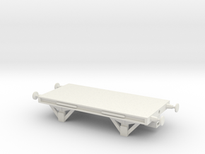 SR Flatcar NEM in White Natural Versatile Plastic