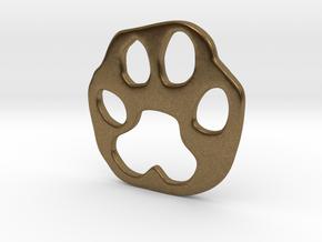 Bobcat paw print in Natural Bronze