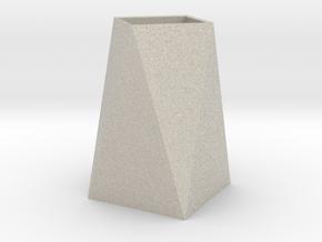 Low Poly Vase in Natural Sandstone
