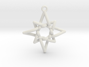 Navigator Pendant in White Natural Versatile Plastic