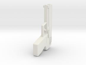 pistol key ring in White Natural Versatile Plastic