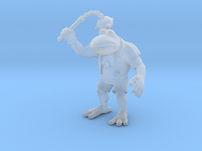 Attila Frog miniature model fantasy games rpg dnd in Smooth Fine Detail Plastic