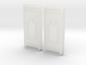 B-04 Wall Mounted Post Boxes (Pair) in Smooth Fine Detail Plastic