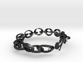 two hearts beat as one (idiom); a kindred spirit in Polished and Bronzed Black Steel