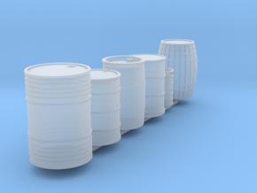 1/64 drum & barrel set x6 in Smooth Fine Detail Plastic