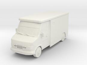 Mercedes Armored Truck 1/76 in White Natural Versatile Plastic