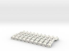 Magno-Electro Couplings for Tillig (Medium) x20 in White Natural Versatile Plastic