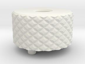 Medium Knurl Backcap Emek Etha2 Mg100 in White Natural Versatile Plastic
