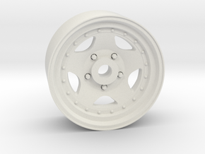 Star 50 18x8mm 4x1mm Hex OS -1 BS 3 in White Natural Versatile Plastic