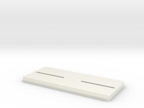 1/32 Slot Car Build Plate in White Natural Versatile Plastic