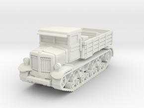 Voroshilovets tractor 1/72 in White Natural Versatile Plastic