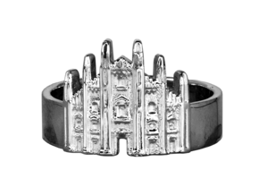 Milan Cathedral Ring in Natural Silver: 7 / 54