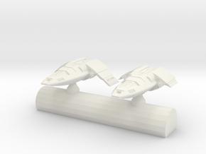 Long Range Tactical Strike Shuttle in White Natural Versatile Plastic