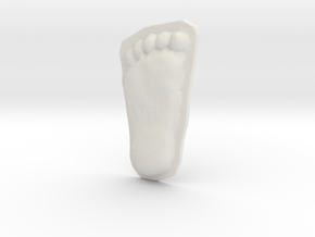 Bigfoot Footprint Cast 1/4 Scale in White Natural Versatile Plastic