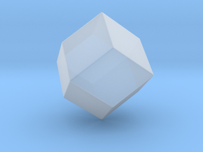 Rhombic Dodecahedron - 10 mm - Rounded V1 in Smooth Fine Detail Plastic