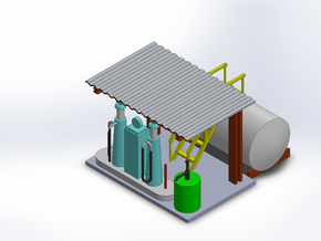 LOCOMOTIVE GAS FACILITY in Smooth Fine Detail Plastic